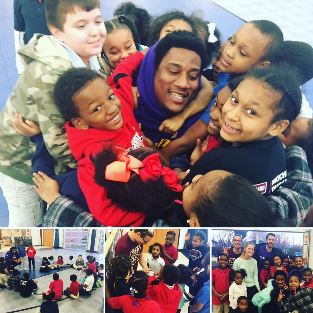 SVDP Kids Meet NFL Player