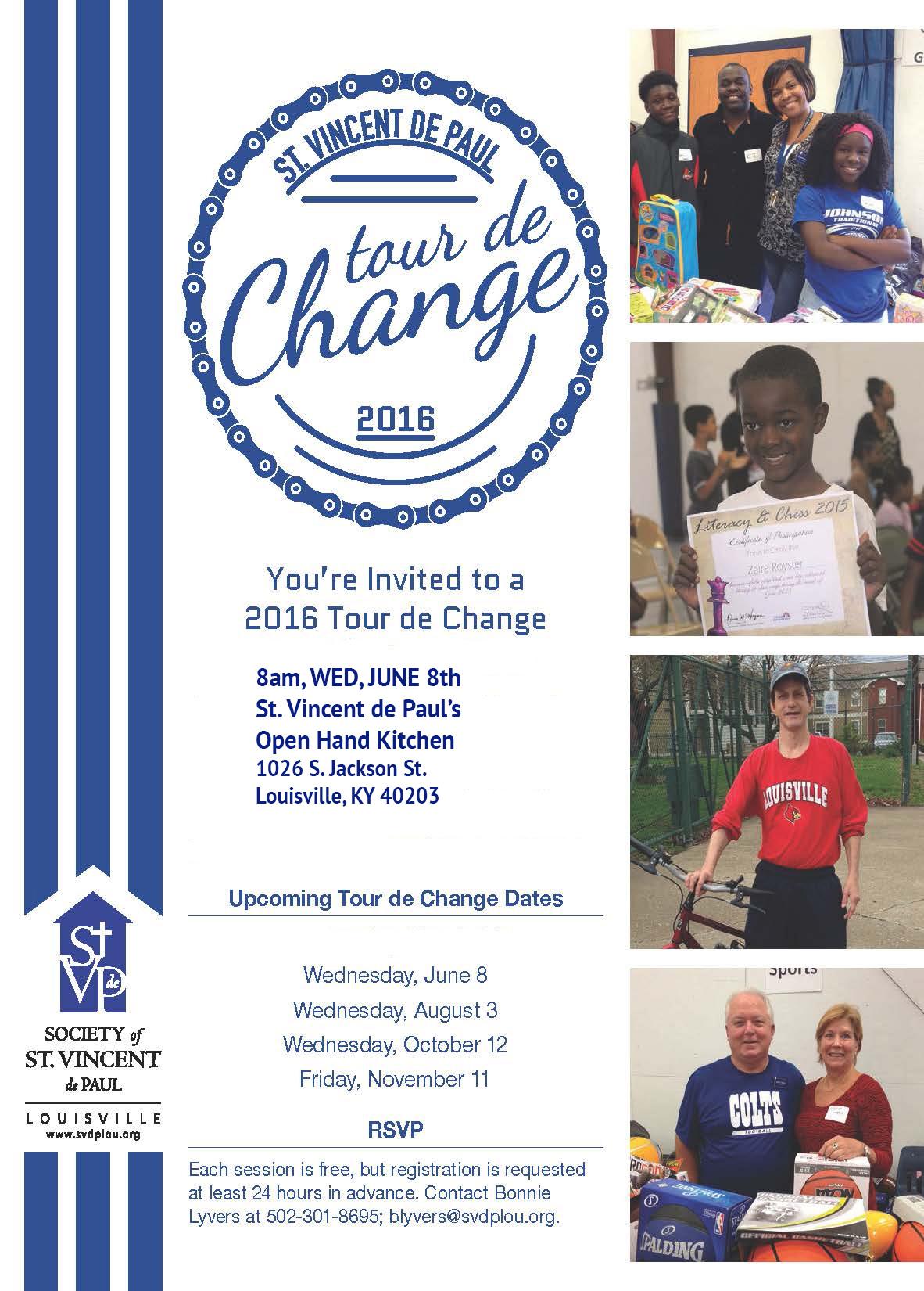 SVDP Tour de Change June 8