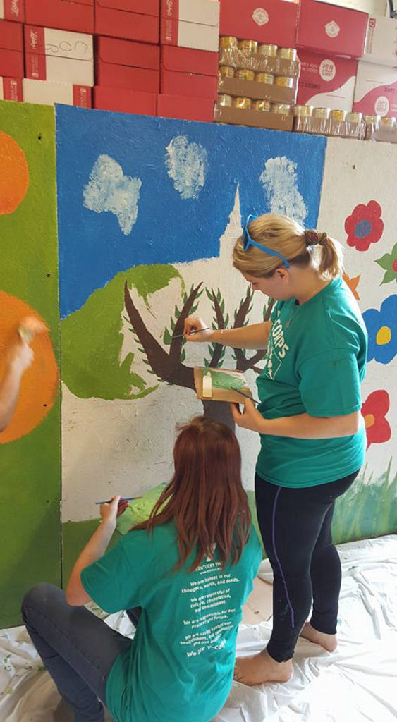 Danish Students Paint Mural