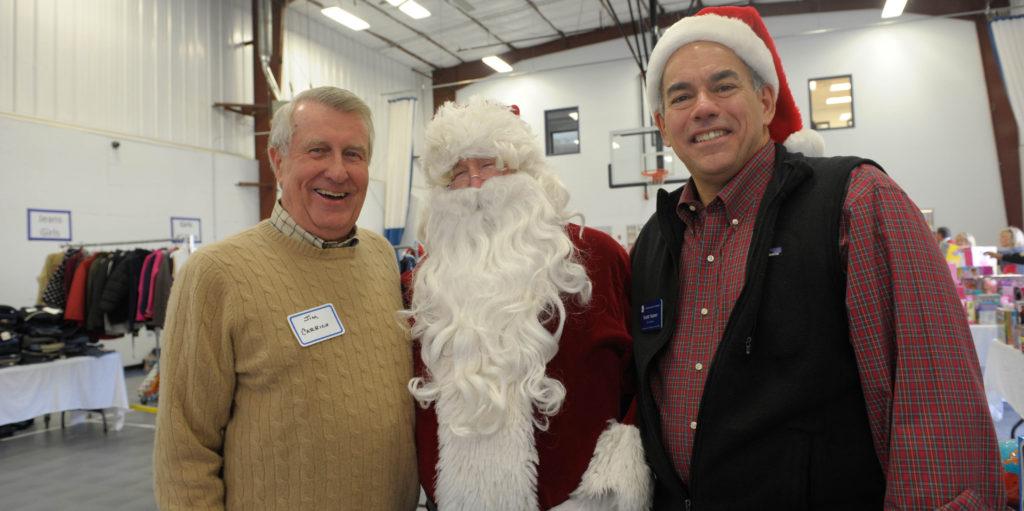 board members with santa