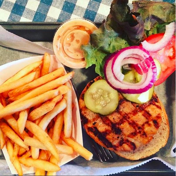 My burger at Mark's FoodRaiser