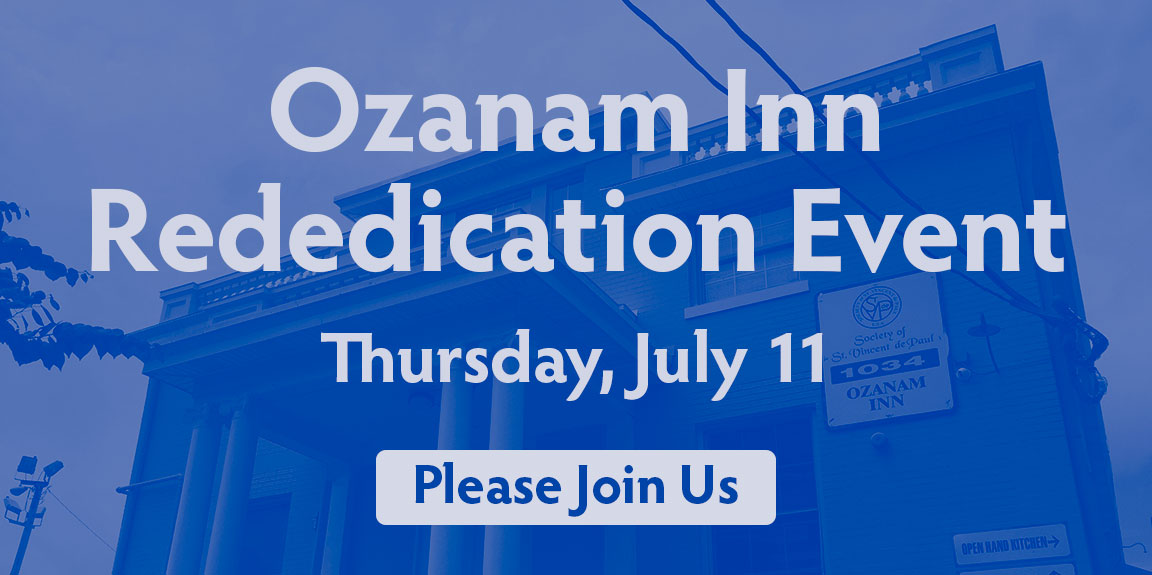 Ozanam Inn Rededication Event